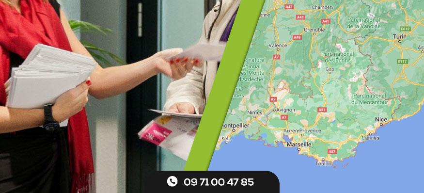 Distribution de prospectus en Provence-Alpes-Côte-D'azur